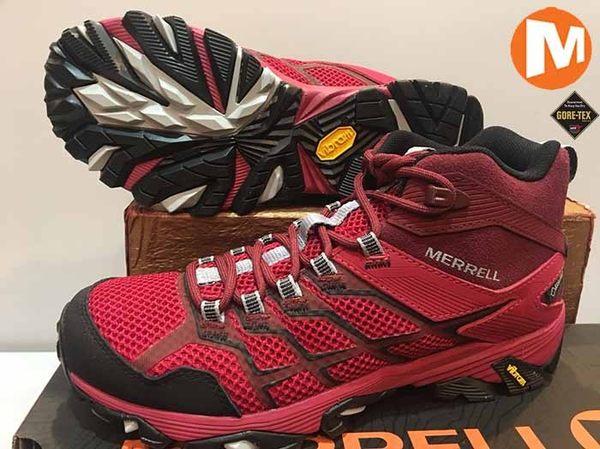 MERRELL Gore-Tex 防水 黃金大底 中高筒/ 登山鞋/ 郊山鞋 ~ ML84570 (女) ★買就送排汗透氣襪★