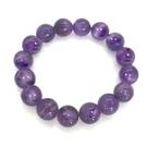 紫水晶圓珠彈性手環...