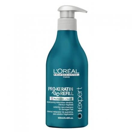 ☆薇維香水美妝☆LOREAL 萊雅 角蛋白修護 洗髮乳 500ML (染燙後受損髮質)