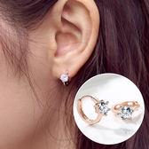 925純銀耳環女氣質韓國個性百搭簡約小耳扣迷你耳圈耳釘耳飾   可然精品鞋櫃