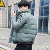 男士外套新款秋冬季韓版潮流夾克修身帥氣棉衣服學生個性男裝  潮流衣舍