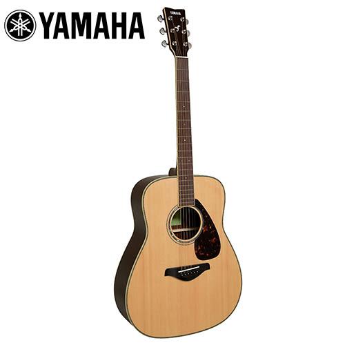 【敦煌樂器】YAMAHA FG830 NT 面單民謠木吉他 原木色款