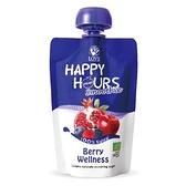 佑爾康金貝親【HAPPY HOURS】有 機纖果飲 (蘋果/ 紅石榴/ 覆盆莓/ 藍莓)100g 69元