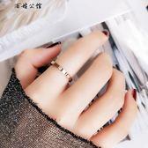 日韓版簡約鈦鋼鍍玫瑰金情侶款戒指 全館8折