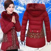 中老年棉衣女裝中長款媽媽裝棉襖中年人40-50歲冬裝外套羽絨棉服