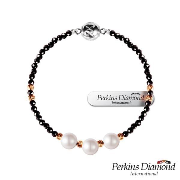 【南紡購物中心】PERKINS 伯金仕 Elegance NO.3系列 尖晶石珍珠手鍊