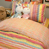 【預購】吃一口彩虹 S2單人床包雙人薄被套三件組 100%精梳棉 台灣製