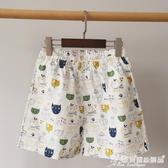 睡褲 【雙側口袋短褲】夏季休閒家居褲短褲情侶睡褲女純棉寬鬆卡通印花 愛麗絲