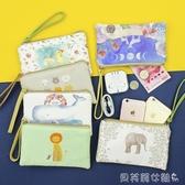 零錢包大屏手機包錢包女士可愛卡通拉鍊布藝日韓簡約大容量手拿包 新品