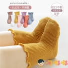 3雙 嬰兒襪子秋冬純棉中厚長中筒鬆口襪【淘嘟嘟】