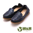 W&M 平底閃亮輕巧素色休閒 女鞋-藍(另有灰)