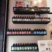 壁掛鐵藝超市貨架化妝品美甲架櫃展示架指甲油膠架子置物架 喵小姐