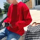 韓版男士毛衣上衣 日系男裝個性秋冬保暖打底衫 寬松潮流破銅男生針織衫 男生毛衣長袖加厚