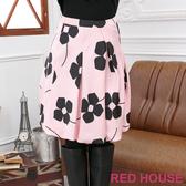 RED HOUSE-蕾赫斯-花朵燈籠裙(淡粉色)