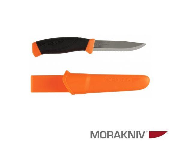 丹大戶外用品【MORAKNIV】瑞典 COMPANION F RESCUE 不鏽鋼直刀 鋸齒刀刃 橘 12214