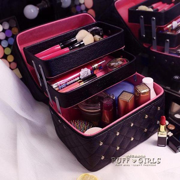 韓國化妝包女雙層大容量便攜旅行收納手提化妝箱