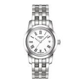 ◆TISSOT◆ Classic Dream 經典鋼帶女生腕錶 T033.210.11.013.00 白