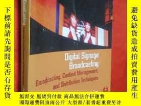二手書博民逛書店Digital罕見Signage Broadcasting: C