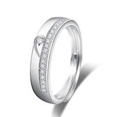 戒指 925純銀 鑲鑽(單件)-簡潔時尚生日情人節禮物男女飾品2款73dx52[時尚巴黎]