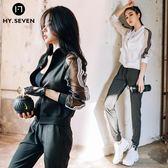 運動套裝女潮2018新款韓國跑步健身房專業速干衣服性感寬松瑜伽服 AD924『伊人雅舍』
