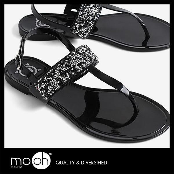 涼鞋 水鑽香味果凍防水夾腳涼鞋 mo.oh(歐美鞋款) 快速出貨 ↗