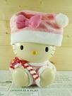 【震撼精品百貨】Hello Kitty 凱蒂貓~塑膠造型存錢筒-聖誕拐杖~粉