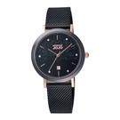 NATURALLY JOJO 輕奢極簡時尚腕錶-黑
