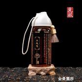 布達哈大悲咒雙層水晶杯六字大明咒佛經帶蓋密封商務旅行水杯 交換禮物