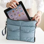 隨身收納包-韓國多功能雙層收納口袋造型防水耐震電腦包 平板保護套 【AN SHOP】