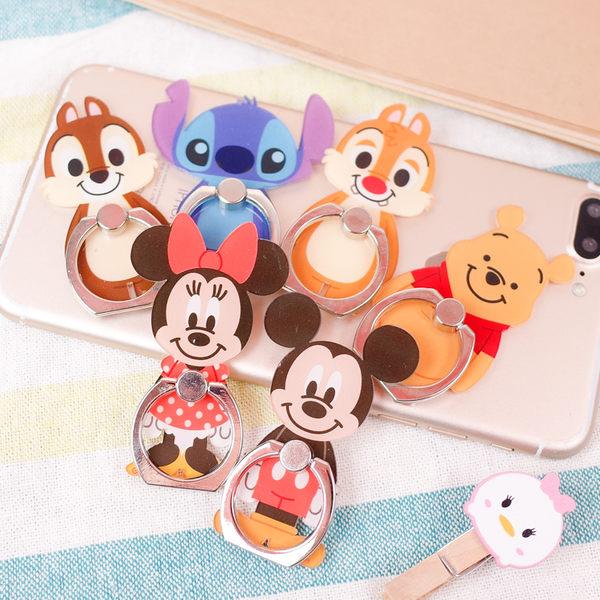 PGS7 迪士尼系列商品 - 手機 指環扣 手機架 米奇 米妮 小熊維尼 史迪奇 奇奇 蒂蒂【SPN80066】
