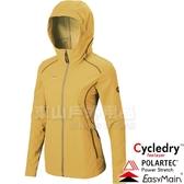 EasyMain衣力美 CE17088-35橄欖黃 女耐磨快乾夾克風衣 Polartec防風95% 戶外機能外套/防寒防風*