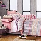 特大-100%精梳棉四件式舖棉兩用被床包...