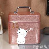 化妝包大容量網紅小號便攜少女可愛收納盒韓國ins簡約化妝箱手提 可然精品