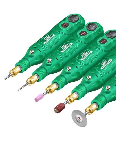 電磨機 小型手持迷你玉石電動打磨雕刻工具鑽孔拋光切割家用小電鑽【快速出貨】
