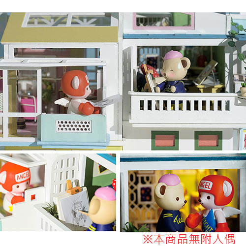 《 Robotime  》3D木製拼圖 - TD05 泰迪小屋系列 Loving Neighborhood (無人偶)╭★ JOYBUS玩具百貨