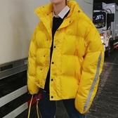 冬裝青少年立領寬鬆棉衣外套韓版男生短款面包服加厚保暖羽絨棉服