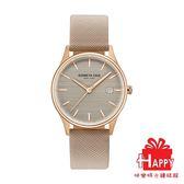 Kenneth Cole 時尚俐落簡約腕錶 KC15109003 玫瑰金X駝色