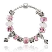 串珠手鍊-甜美粉色系列水晶飾品時尚女配件73kc210[時尚巴黎]