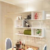 墻上置物創意多層裝飾架現代簡約隔板壁櫃WZ419 【衣好月圓】TW