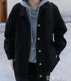 牛仔外套 2020年新款黑色牛仔外套女復古港味寬鬆韓版bf春秋潮ins百搭上衣