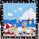兔子 海水浴場 日本製 手拭 頭巾 包巾 掛軸 裱框 裝飾 100%綿