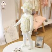 女寶寶夏裝公主吊帶連體衣3個月嬰兒三角爬爬服6連體褲哈衣包屁衣