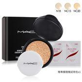 M.A.C 超持妝無瑕氣墊 SPF50/PA++補充粉蕊12g #N18+清潔試用包(隨機出)X1