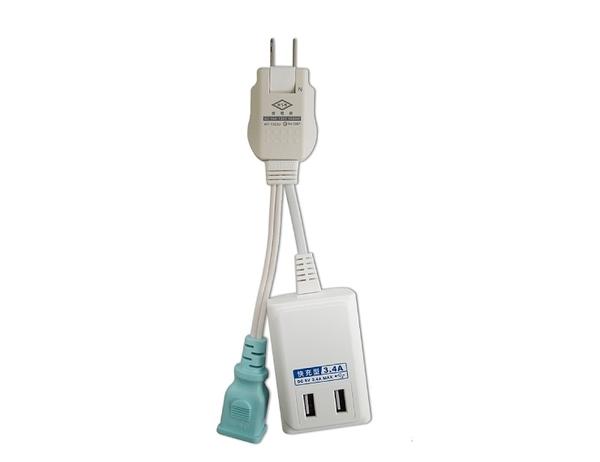 【現貨即出】攜帶型 任意轉USB 3.4A智慧快充電源線組 WT-1322U 威電牌