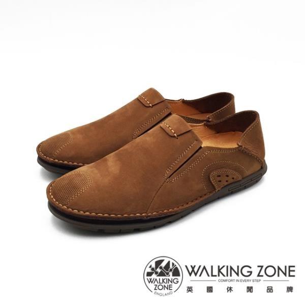 【南紡購物中心】WALKING ZONE 可踩腳休閒鞋 開車鞋 男鞋 -淺棕(另有深咖)