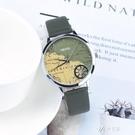 航海地圖手錶個性創意運動戶外防水石英男女腕錶潮 【快速出貨】