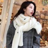 圍巾女秋冬季韓版學生ins少女百搭針織長款加厚保暖毛線圍脖披肩