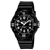 CASIO 魅力潛水風格型女腕錶-黑面/數字刻度(LRW-200H-1B)【屈臣氏】