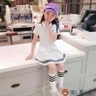 女童裙子夏裝公主夏季學院風兒童連身裙女孩兒童洋裝【淘夢屋】
