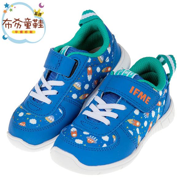 《布布童鞋》日本IFME童趣外太空藍色兒童機能運動鞋(15~21公分) [ P9OSD2B ]
